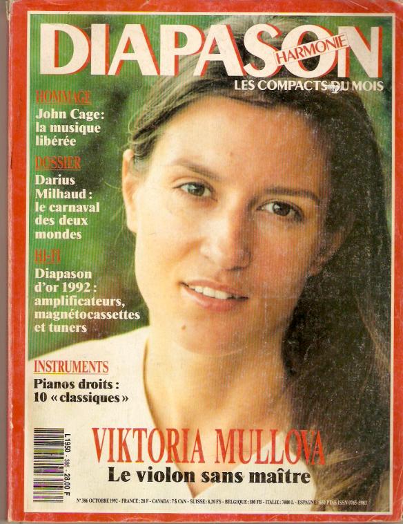 Viktoria Mullova - Diapason, Oct. 1992