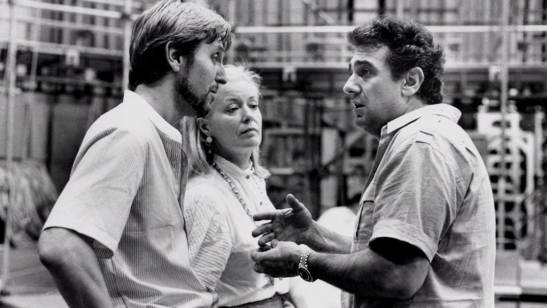 Andrei Șerban, Gwyneth Jones și Placido Domingo - repetiții Turandot, 1984