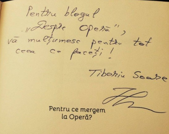 Autograf Tiberiu Soare