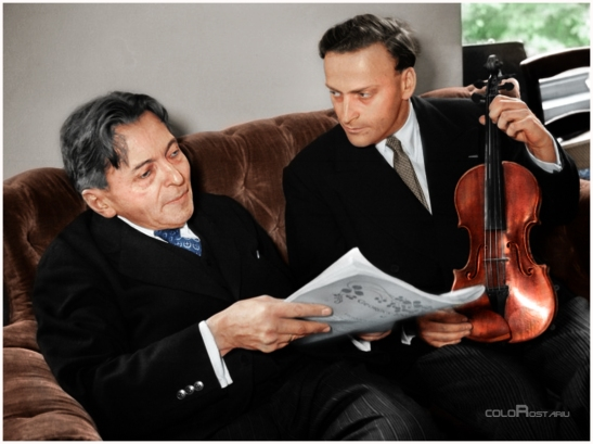 George Enescu și Yehudi Menuhin - (c) coloRostariu