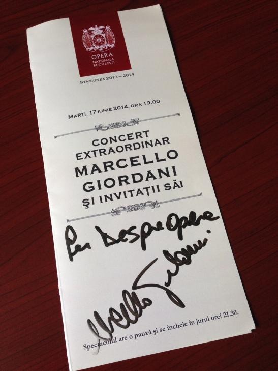 Autograf Marcello Giordani
