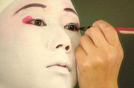 Machiaj în teatrul Kabuki
