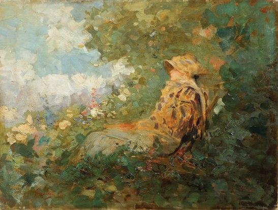 Charlotta Leria (Femeie în grădină) - N. Grigorescu