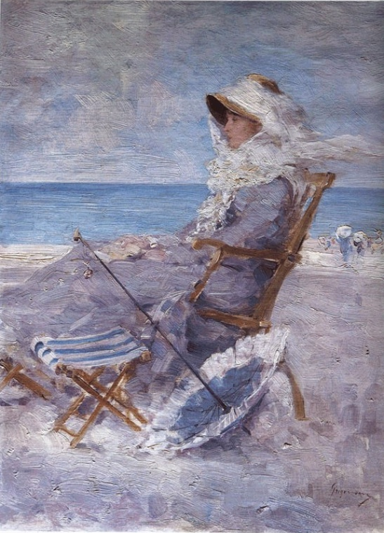 Carlotta Leria (Femeie la mare) - N. Grigorescu