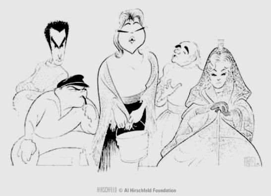 Il tabarro la The Mteropolitan Opera, New York (c) Hirschfeld