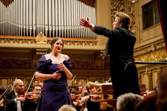 Lise Davidsen, Christian Badea, la Ateneul Român (Foto: Romeo Zaharia)