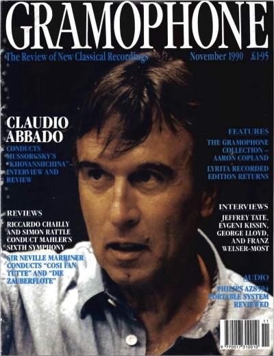Gramophone - Noiembrie 1990 - Coperta