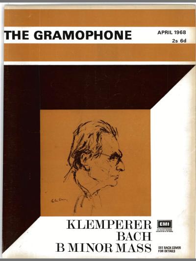 Coperta Gramophone Aprilie 1968 Cover