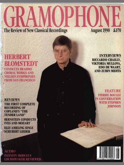 Gramophone - August 1990 - Coperta
