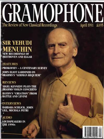 Gramophone - Aprilie 1991 - Coperta