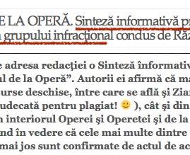 Sinteză informativă - România, 2015