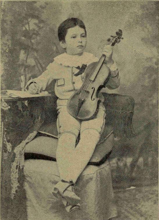 Maestrul Enescu la vârsta de 5 ani - Fotografie inedită