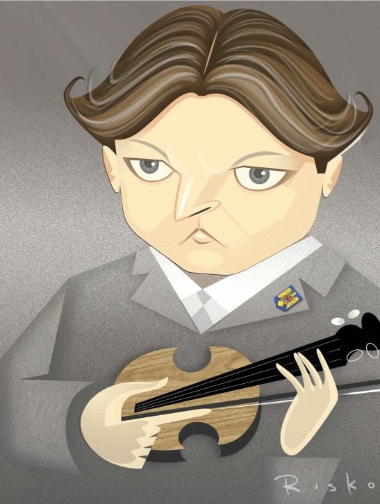 Desenul ales de BBC Music pentru ilustrarea articolului despre George Enescu (Autor: RISKO)