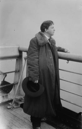 George Enescu - pe vasul Berengaria, în drum spre America (1922)