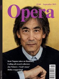 Opera September 2015 Cover