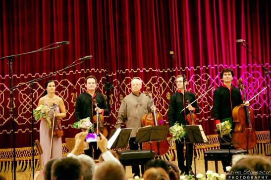 La finalul concertului de la Ateneu