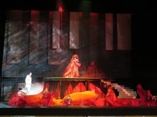 Scena întâlnirii Sfinxului cu Œdipe
