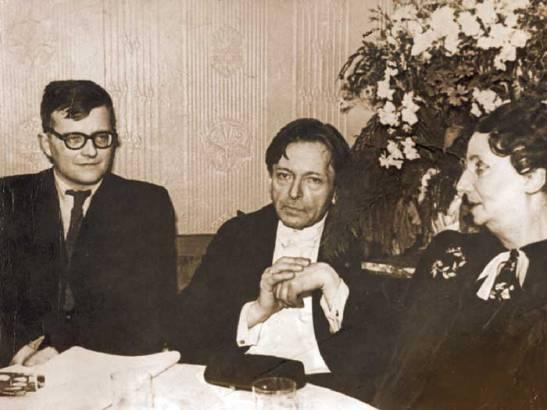Șostakovici, Enescu și Maruca în 1946, la Moscova