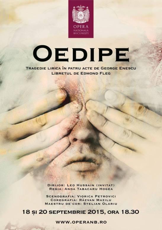Œdipe la Opera Națională București, 2015 - Afiș