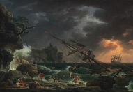 Claude-Joseph Vernet, The Shipwreck, French, 1714 - 1789, 1772, oil on canvas, Patrons' Permanent Fund and Chester Dale Fund