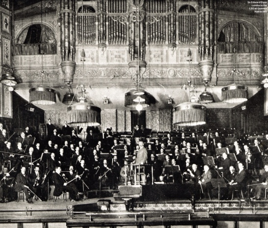 Sir Edward Elgar în fruntea LSO la Queen's Hall, 1911