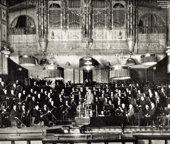 Sir Edward Elgar în fruntea LSO la Queen's Hall, 1911