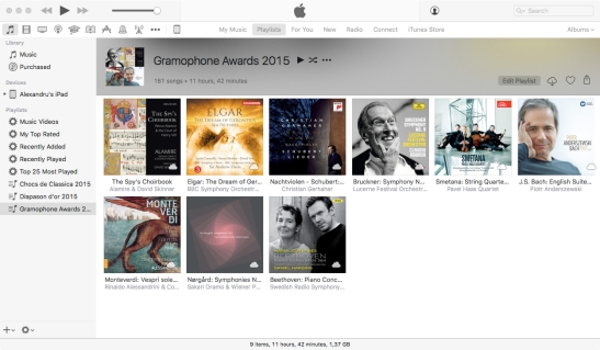 Playlist - Gramophone Awards 2015