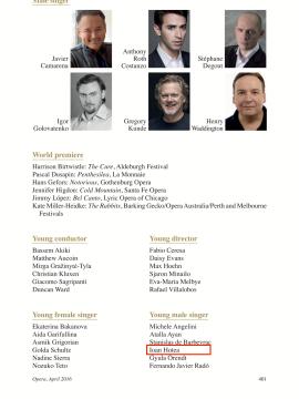 Ioan Hotea la Opera Awards