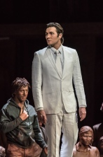 OEDIPE by Georges Enesco; Royal Opera House; Covent Garden; London, UK; 17 May 2016; Samuel Dale Johnson as Thésée; Leo Hussain - Conductor; Àlex Ollé - Director; Valentina Carrasco - Associate Director; Alfons Flores - Set designer; Lluc Castells - Costume designer; Peter van Praet - Lighting designer; Photo: © ROH Photographer: CLIVE BARDA