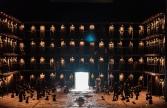 OEDIPE by Georges Enesco; Royal Opera House; Covent Garden; London, UK; 17 May 2016; Johan Reuter as Oedipe; Sarah Connolly as Jocaste; Samuel Youn as Créon; John Tomlinson as Tirésias; Sophie Bevan as Antigone; Claudia Huckle as Mérope; Marie-Nicole Lemieux as Sphinx; Alan Oke as Shepherd; Hubert Francis as Laïos; In Sung Sim as Phorbas; Nicolas Courjal as Theban High Prest; Stefan Kocan as Watchman; Samuel Dale Johnson as Thésée; Lauren Fagan as Theban Woman; Leo Hussain - Conductor; Àlex Ollé - Director; Valentina Carrasco - Associate Director; Alfons Flores - Set designer; Lluc Castells - Costume designer; Peter van Praet - Lighting designer; Photo: © ROH Photographer: CLIVE BARDA
