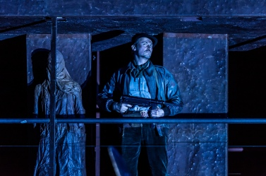 OEDIPE by Georges Enesco; Royal Opera House; Covent Garden; London, UK; 20 May 2016; Stefan Kocan as Watchman; Leo Hussain - Conductor; Àlex Ollé - Director; Valentina Carrasco - Associate Director; Alfons Flores - Set designer; Lluc Castells - Costume designer; Peter van Praet - Lighting designer; Photo: © ROH Photographer: CLIVE BARDA