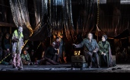 OEDIPE by Georges Enesco; Royal Opera House; Covent Garden; London, UK; 20 May 2016; Johan Reuter as Oedipe; Sarah Connolly as Jocaste; Alan Oke as Shepherd (left); Leo Hussain - Conductor; Àlex Ollé - Director; Valentina Carrasco - Associate Director; Alfons Flores - Set designer; Lluc Castells - Costume designer; Peter van Praet - Lighting designer; Photo: © ROH Photographer: CLIVE BARDA