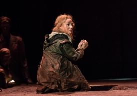 OEDIPE by Georges Enesco; Royal Opera House; Covent Garden; London, UK; 20 May 2016; Sophie Bevan as Antigone; Leo Hussain - Conductor; Àlex Ollé - Director; Valentina Carrasco - Associate Director; Alfons Flores - Set designer; Lluc Castells - Costume designer; Peter van Praet - Lighting designer; Photo: © ROH Photographer: CLIVE BARDA