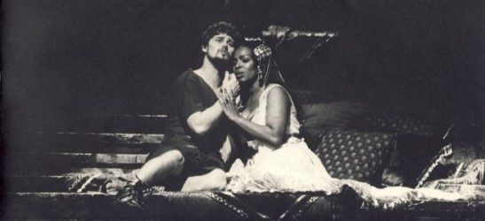 Esther Hinds și Jeffrey Wells în opera «Antony and Cleopatra», Spoleto 1985