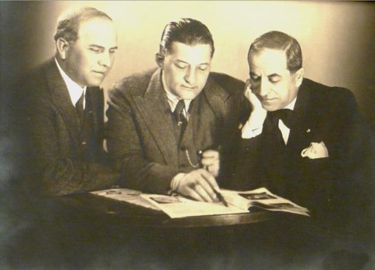 George Folescu, Sigismund Zalevschi şi George Niculescu Basu (1933)
