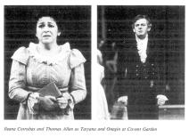 Ileana Cotrubaș și Thomas Allen (Oneghin) la Covent Garden)