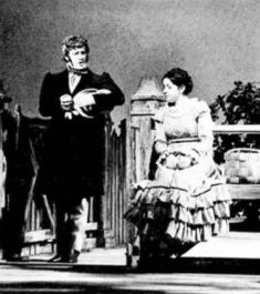 Oneghin (Victor Braun) o respinge pe Tatiana (Ileana Cotrubaș)