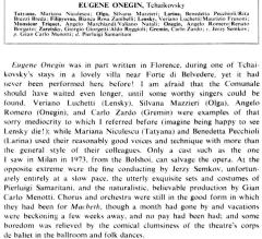 Cronica Evgheni Oneghin (Nicolescu, 1975)