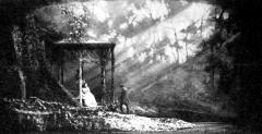 Oneghin și Tatiana se întâlnesc în grădină