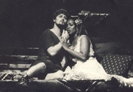 Esther Hinds și Jeffrey Wells în opera Anthony and Cleopatra, Spoleto 1985