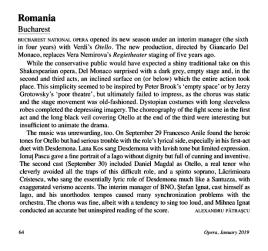 Cronica Otello - Opera Magazine, Ianuarie 2019