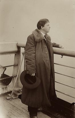 George Enescu la bordul transatlanticului RMS Berengaria în drum spre primul turneu în America (1922)