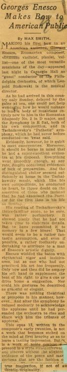 Enescu in America 1923 - 1