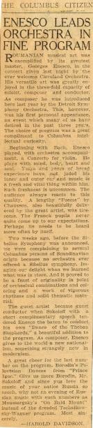 Enescu in America 1926 - 1