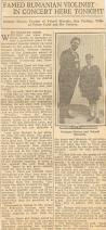 Enescu in America 1928 - 1