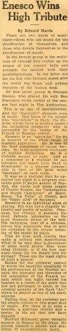 Enescu in America 1928 - 2