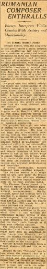 Enescu in America 1928 - 3