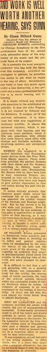 Enescu in America 1932 - 1